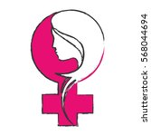 feminism related icon image... | Shutterstock .eps vector #568044694