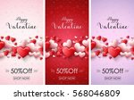 valentine's day sale banners | Shutterstock . vector #568046809