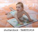first steps baby. the little... | Shutterstock . vector #568051414