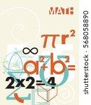 mathematics. vector cover. a... | Shutterstock .eps vector #568058890