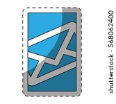 blue mail into the smartphone... | Shutterstock .eps vector #568062400