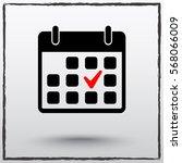 calendar sign icons  vector...   Shutterstock .eps vector #568066009
