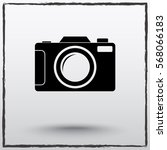 photo camera sign icon  vector... | Shutterstock .eps vector #568066183