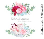 Floral Mix Wreath Vector Design ...