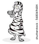 zebra cartoon drawings | Shutterstock .eps vector #568069684