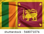Sri Lanka Flag With Fabric...