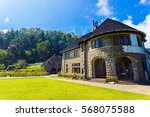 british colonial house and rear ...   Shutterstock . vector #568075588