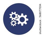 gear icon vector flat design... | Shutterstock .eps vector #568077034