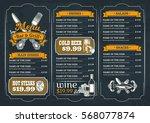template for the restaurant menu | Shutterstock .eps vector #568077874