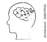 head silhouette profile... | Shutterstock .eps vector #568079026