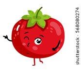 cute vegetable tomato cartoon... | Shutterstock .eps vector #568080274