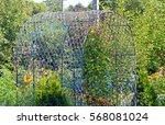 garden arch for climbing plants ... | Shutterstock . vector #568081024