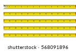 Tape Measure In Inches Vector...