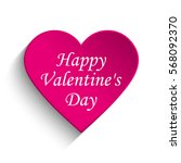 happy valentine's day | Shutterstock .eps vector #568092370