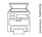 multi function printer in... | Shutterstock .eps vector #568094236