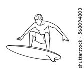 surfer in action icon in...   Shutterstock .eps vector #568094803