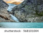 glacier briksdal in national...