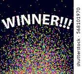 confetti background. winning... | Shutterstock .eps vector #568101970