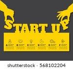 start up background. beginning... | Shutterstock .eps vector #568102204