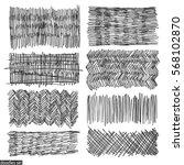 doodles set. scribble... | Shutterstock .eps vector #568102870
