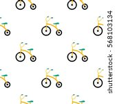 tricycle icon in cartoon style... | Shutterstock .eps vector #568103134