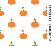 pumpkin icon cartoon. single... | Shutterstock .eps vector #568103293