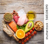 selection of food that is good... | Shutterstock . vector #568108390