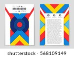abstract vector layout... | Shutterstock .eps vector #568109149