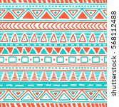 seamless ethnic pattern. cute... | Shutterstock .eps vector #568112488