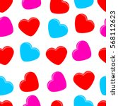 colorful hearts pattern.... | Shutterstock .eps vector #568112623
