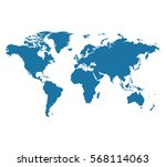 world map vector illustration | Shutterstock .eps vector #568114063