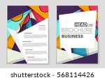 abstract vector layout... | Shutterstock .eps vector #568114426