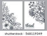 floral backgrounds with hand... | Shutterstock .eps vector #568119349