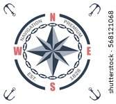 vintage nautical labels  icons...   Shutterstock .eps vector #568121068