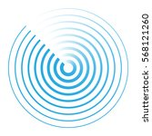radar abstract icon symbol... | Shutterstock .eps vector #568121260