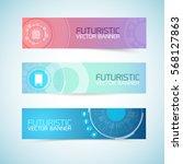 futuristic banners set of...