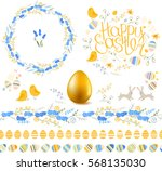 Spring Set. Phrase Happy Easte...
