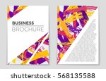 abstract vector layout... | Shutterstock .eps vector #568135588