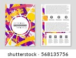abstract vector layout... | Shutterstock .eps vector #568135756