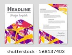 abstract vector layout...   Shutterstock .eps vector #568137403