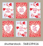 set valentine's day greeting... | Shutterstock .eps vector #568139416