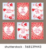 set valentine's day greeting... | Shutterstock .eps vector #568139443