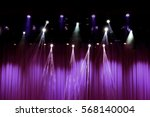 theater stage with purple... | Shutterstock . vector #568140004