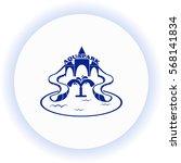 aquapark  icon. vector design.