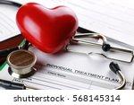 stethoscope medical documents... | Shutterstock . vector #568145314