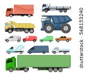 different cars transport vector ... | Shutterstock .eps vector #568153240