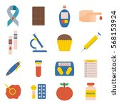 illustration with flat diabetes ... | Shutterstock . vector #568153924