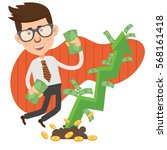 businessman concept design... | Shutterstock .eps vector #568161418
