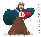 businessman concept design... | Shutterstock .eps vector #568161610