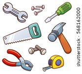 vector illustration of tools set | Shutterstock .eps vector #568162000